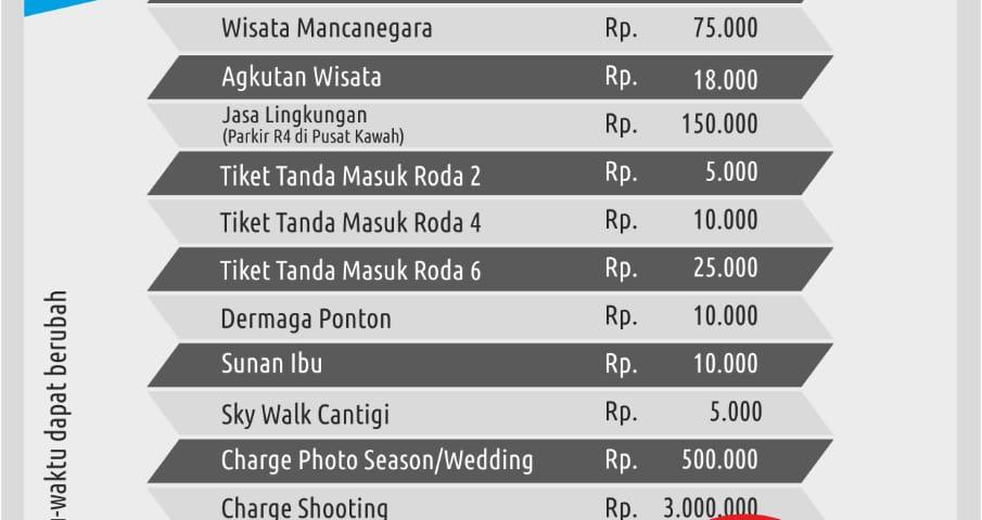 HARGA TIKET MASUK KAWAH PUTIH CIWIDEY UPDATE MARET 2019